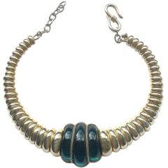 Iconic gilt and glass collar, Yves Saint Laurent, 1960s