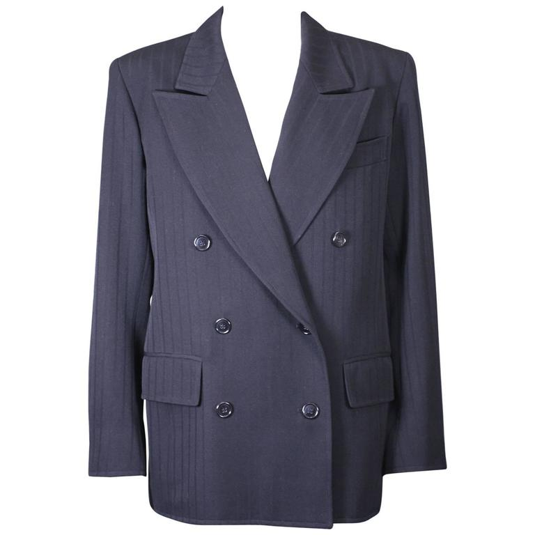 Yves Saint Laurent Double Breasted Wool Jacket