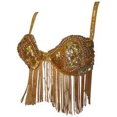 Fringe Sequin Vintage Show Bra