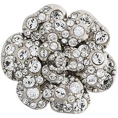 Vintage Chanel Crystal Camellia Brooch