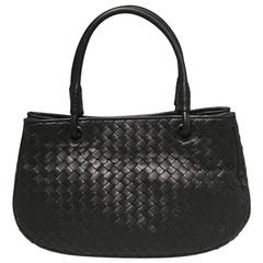 Bottega Veneta Woven Black Leather Handbag