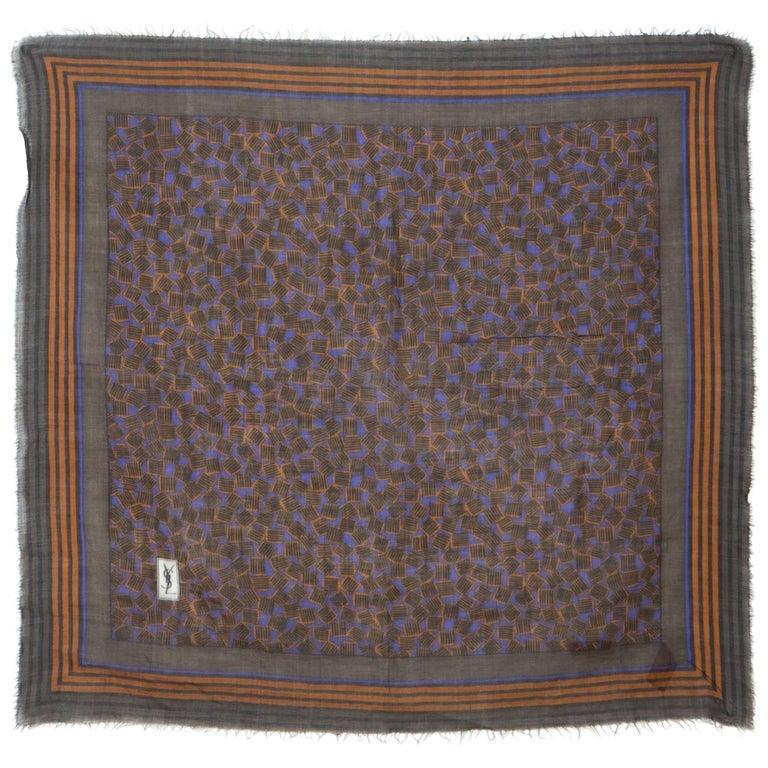 Rare Saint Laurent Wool and Silk Scarf