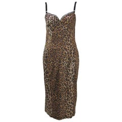 Dolce & Gabbana Satin Leopard Print Dress