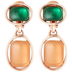Oscar de la Renta Rose Gold Drop Earrings