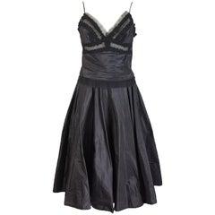 2000s Ermanno Scervino silk black lace top blouse long skirt dress wedding