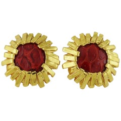 Yves Saint Laurent YSL Vintage Clip-On Earrings