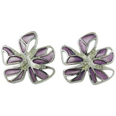 Christian Lacroix Flower Clip-On Earrings