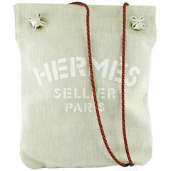 Hermes Vintage Aline White PM Canvas Shoulder Bag