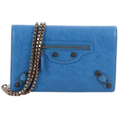 Balenciaga Giant Studs Wallet on Chain Leather Small