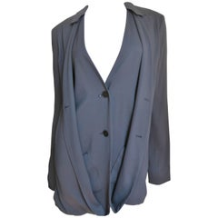 Jil Sander Silk Backless Double Front Jacket