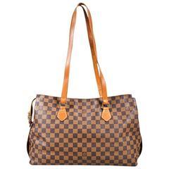"Vintage Louis Vuitton Limited Edition Brown Canvas Damier Ebene ""Chelsea"" Tote"