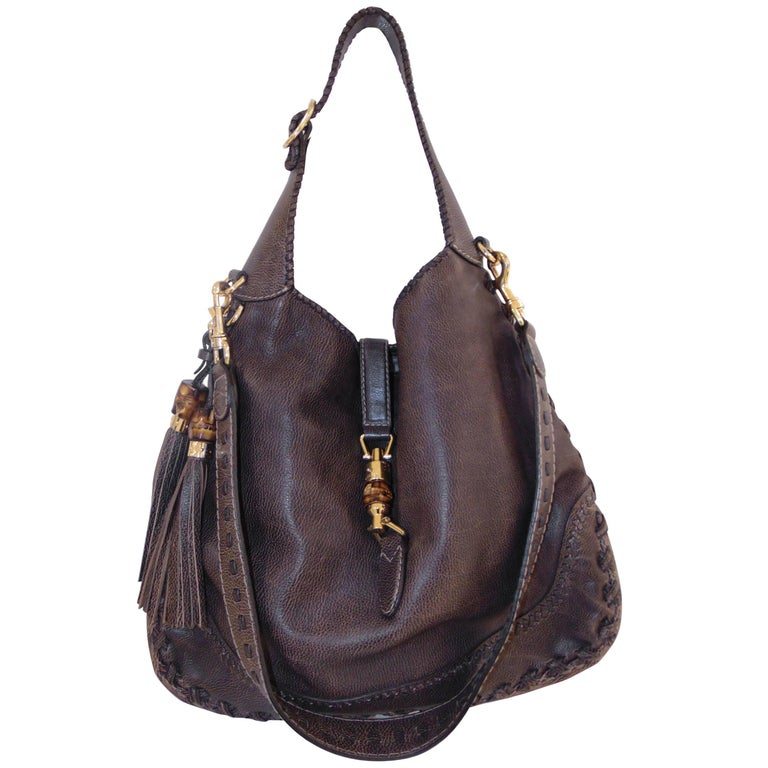 Gucci new Jackie brown bamboo shoulder bag