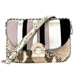 Prada Arcade Python & Leather Flap Bag