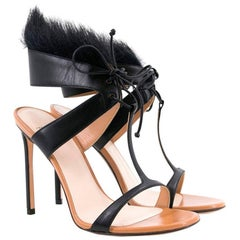 Francesco Russo Fur and Leather Sandals