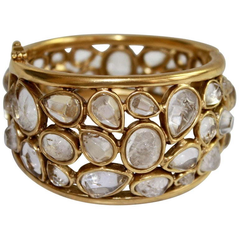 """Goossens Paris Rock Crystal """"Cachmere"""" Bracelet 1"""