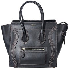 Black Céline Smooth Calfskin Luggage Bag