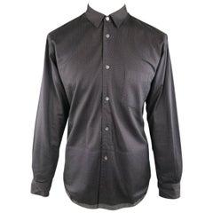 Men's COMME des GARCONS Size M Black Dots Panel Cotton Long Sleeve Shirt