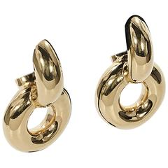 Céline Brass Chunky Drop Earrings