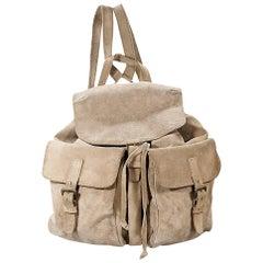 Tan Prada Suede Backpack