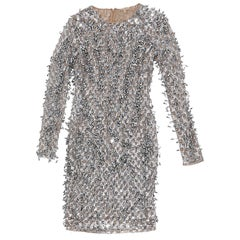 Silver Michael Kors Embellished Dress