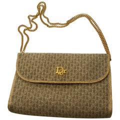 Vintage Christian Dior Gold Lurex Clutch Handbag