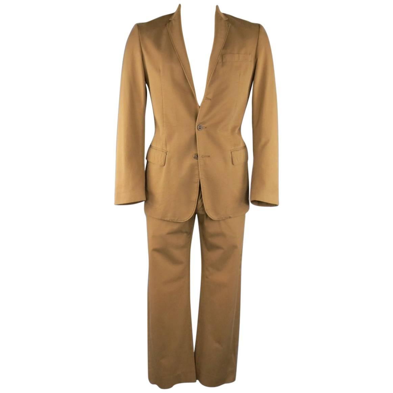 MAISON MARTIN MARGIELA 38 Tan Brown Cotton Chino 32 x 31 Suit