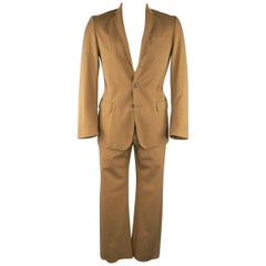 Men's MAISON MARTIN MARGIELA 38 Tan Brown Cotton Chino 32 31 Casual Suit