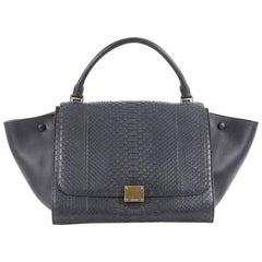 Celine Trapeze Handbag Python Medium