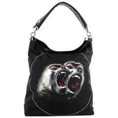 Givenchy Nightingale Convertible Hobo Printed Canvas Large