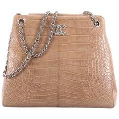 Chanel Flap Shoulder Bag Crocodile Medium