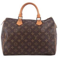 Louis Vuitton Speedy Handbag Monogram Canvas 30