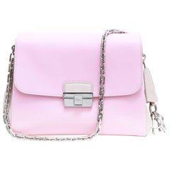 DIOR ''Diorling'' Flap Bag in Pink and Sand Grained Leather