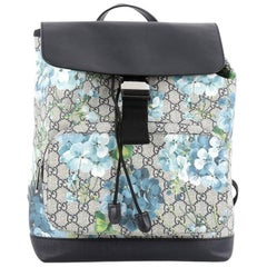 Gucci Buckle Backpack Blooms Print GG Coated Canvas Medium