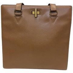 Celine Chestnut Leather Shoulder Bag