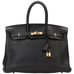 2010 Hermes Black Togo Leather Birkin 35cm