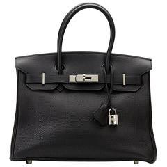 2002 Hermes Black Togo Leather Birkin 30cm