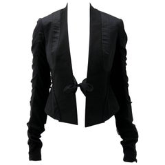 Rick Owens Multi Tie Cropped Avant Garde Structured Jacket