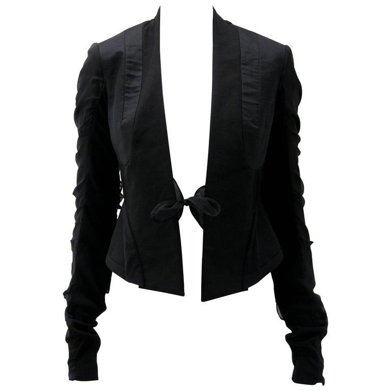 Rick Owens Multi Tie Cropped Avant Garde Structured Jacket 1