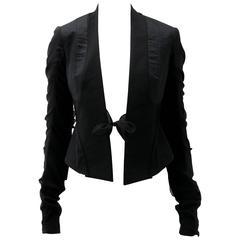Rick Owens Multi Tie Cropped Avant Garde Structured Jacket