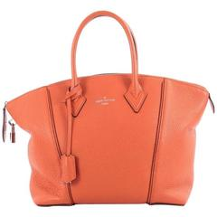 Louis Vuitton Soft Lockit Handbag Leather PM