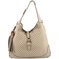 Gucci New Jackie Handbag Diamante Canvas Large