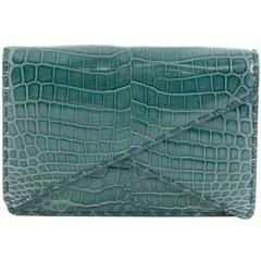 Bottega Veneta Piano Crisscross Clutch Crocodile Small
