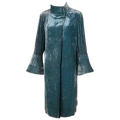 Attributed to Jeanne Lanvin Reversible Velvet Coat Ca. 1925