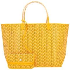Goyard Jaune Yellow St Louis GM Chevron Tote Bag Celeb Fave
