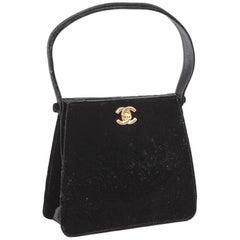 CHANEL Evening Bag in Black Silk Velvet