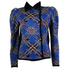 Yves Saint Laurent Rive Gauche YSL Vintage Cardigan Sweater Size FR 38