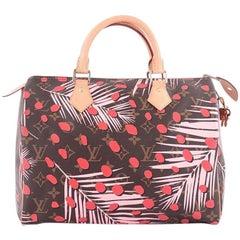 Louis Vuitton Speedy Handbag Limited Edition Monogram Jungle 30