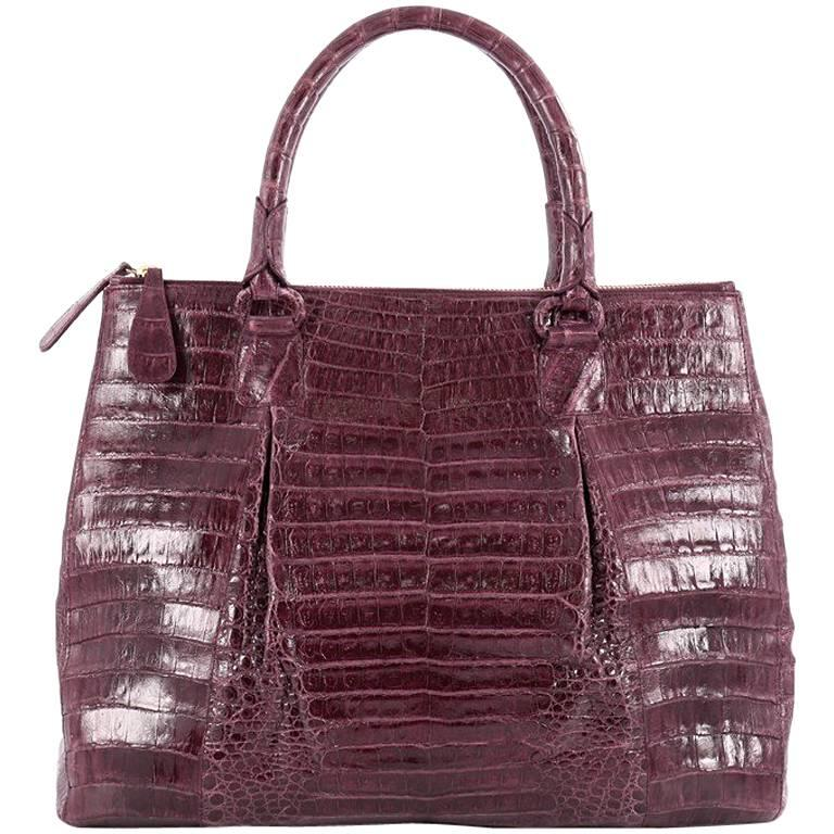 Nancy gonzalez double zip convertible tote crocodile large for Nancy gonzalez crocodile tote