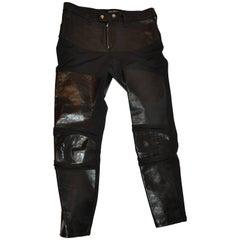 Junya Watanabe Comme des Garcons Black Calf & Lycra Knee Pads Jeans