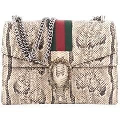 Gucci Web Dionysus Handbag Python Medium